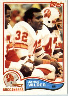 1982 Topps Football 507 James Wilder Tampa Bay Bucs