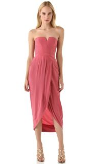 Zimmermann Strapless Lace Back Dress
