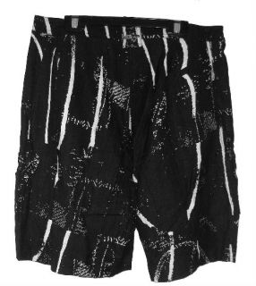 Jamie Sadock Jet Ebony Pattern Golf Tennis Shorts Sz 8