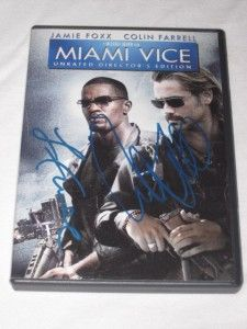 Miami Vice DVD Signed Autographed by Colin Farrell Jamie Foxx