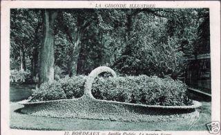 Bordeaux 33 CPA Jardin Public Panier Fleuri Écrit 1941