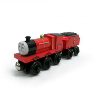 New in Box Wooden James Thomas Tank Engine Train