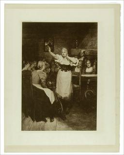 1899 Large Antique Opera Print Flying Dutchman Wagner