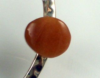 Robert Lee Morris Sterling Silver Peach Agate Bracelet
