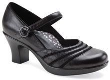 Dansko Womens Becky Mary Jane Shoes Heels Black Nappa Leather