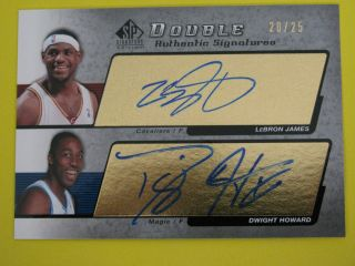 2005 UD SP SIGNATURE LEBRON JAMES DWIGHT HOWARD DUAL AUTOGRAPH 20 25