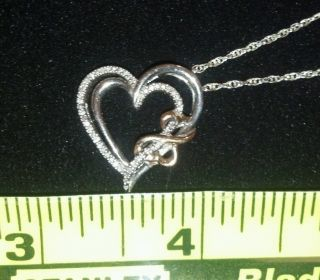 Jane Seymour Open Heart Silver Pendant Necklace