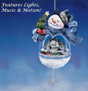 Thomas Kinkade 01 08075 001 Ornament Christmas Snowman