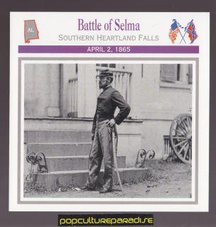 of Selma Alabama 1865 U s Civil War Card General James H Wilson