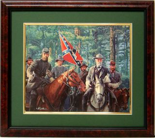 Lee and Jackson Model Partnership Framed Art by Mort Kunstler