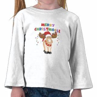 Merry Christmoose Christmas Tee Shirt