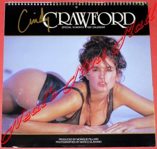 Cindy Crawford 1991 16 Month Calendar Unused Insured