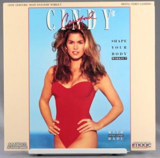 Laser Disc Cindy Crawford Shape Your Body Workout Radu