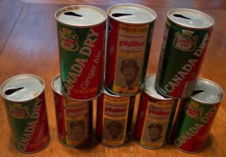 1976 Lot Philadelphia Phillies Baseball Players Canada Dry Soda Cans