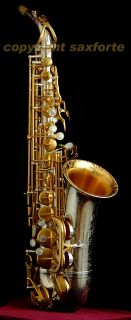 Rampone Cazzani R1 Jazz Engraved Silver Gold Plated Alto Saxophone Sax