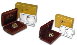 Mary Lincoln 2010 First Spouse Gold Proof and UNC Set Box and COA