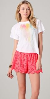 Wildfox Wildfox White Label Bleeding Roses Tee