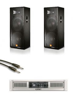 JBL JRX125 Dual 15 DJ/Club 2000W Speakers w/ QSC GX5 Power Amplifier