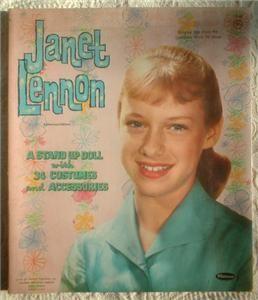 Vintage Orig Janet Lennon Whitman Paper Dolls 1961 Teleklew Doll Uncut