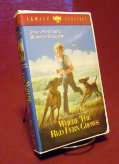 Where The Red Fern Grows James Whitmore 1991 VHS White Clam Shell Case