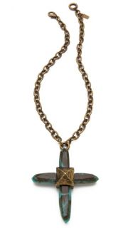 Pamela Love Crystal Cross Necklace