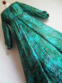 Jean Patou Paris Jewel Premonition Amazing Pure Silk Chiffon Maxi