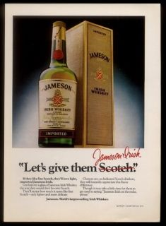 1980 John Jamesons Irish Whiskey Bottle Box Photo Vintage Print Ad