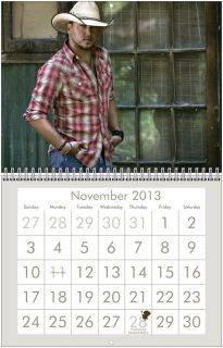 Jason Aldean 2013 Wall Calendar