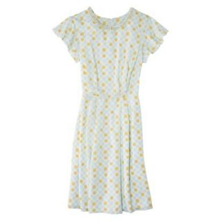 Jason Wu for Target Short Sleeve Printed Cycle Dress in Cream w Pearls