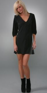 Juicy Couture 3/4 Sleeve Silk Dress