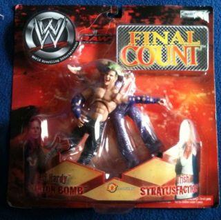 WWE RARE Jakks Jeff Hardy Trish Stratus 2 Figure Lot WWF