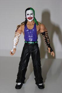 Custom Jeff Hardy with Joker Facepaint Jakks WWF WCW WWE TNA