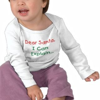 Dear Santa, I Can Explain Tee Shirt