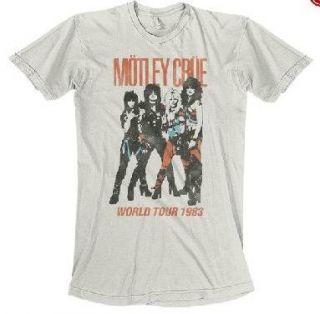 Motley Crue Vintage World Tour Soft Fit T Shirt New s M L XL Authentic