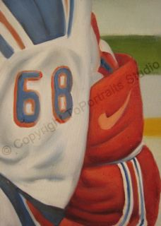 Jaromir Jagr New York Ranger Original Photo Oil Painting on Canvas