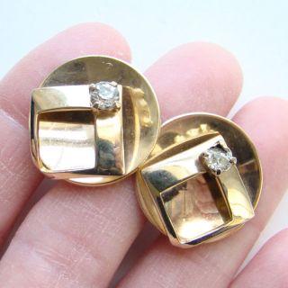 Vintage Alice Earrings Lot of 2 Screw Back Gold Tone Heart Rhinestone