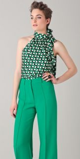 Milly Print Bias Cut Top