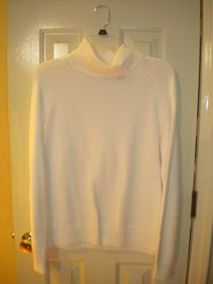 Jeanne Pierre White Turtleneck Sweater Large