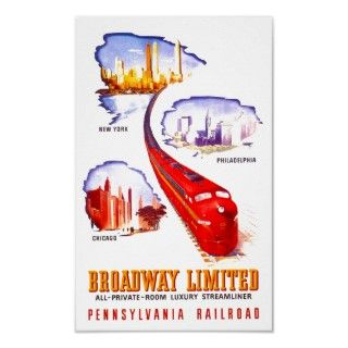 Pennsylvania Railroad Broadway Limited Streamliner Print