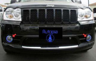 2004 2008 Jeep Grand Cherokee Red Halo Fog Lamps Lights Fu Kit Pair