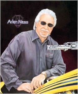 Arlen Ness Portrait Original Oil Painting Choppers Motorcycle Art by