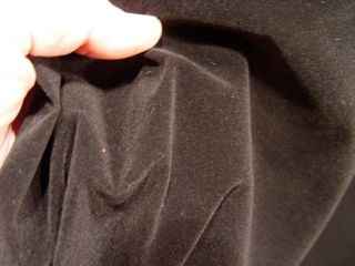 Per Yard Black Smooth Velvet Upholstery Fabric 9 Oz