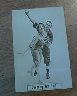 Early 1900s Baseball Theme Postcard Covering Left Field