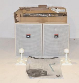 JBL Control 25 Compact Speakers Pair White