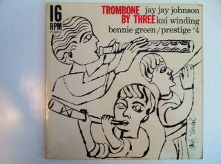 JAY JAY JOHNSON trombone by three LP 16 RPM rare ANDY WARHOL cover