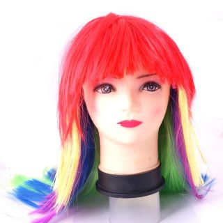 Unique Halloween Devil Colorful Wig Costume Cosplay Prop Party Wigs
