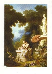 Love Letters Jean Honore Fragonard   Frick Collection NY Vintage ART