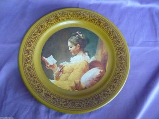 Art Metal Wall Plate A Young Girl Reading Jean Honore Fragonard