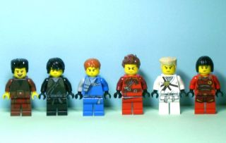 Minifigures DARRETH COLE JAY KAI ZANE NYA Custom Brown Ninja Hair