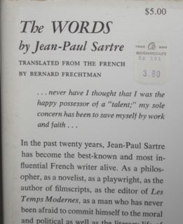 auto biography of the important French author, Jean Paul Sartre